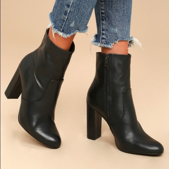 9eddfff8dd7 Steve Madden Editor Bootie leather Heel Ankle Boot